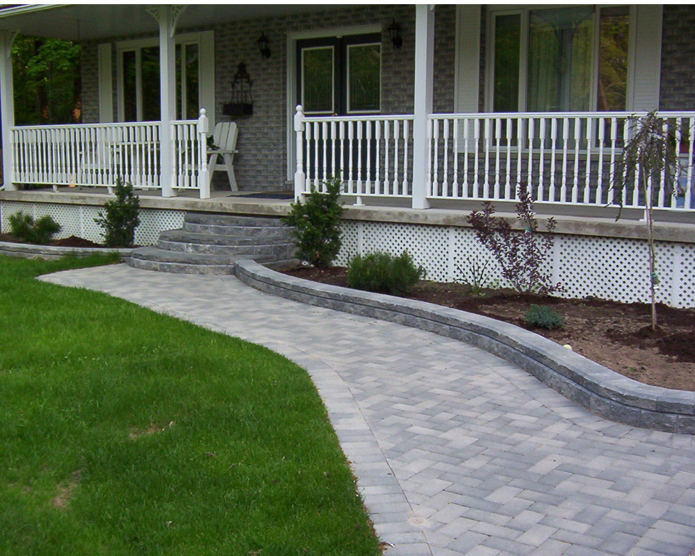 colony landscaping paved walkway